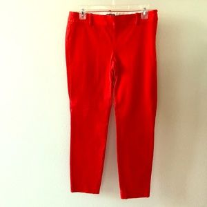 J Crew City Fit Red Stretch Pants